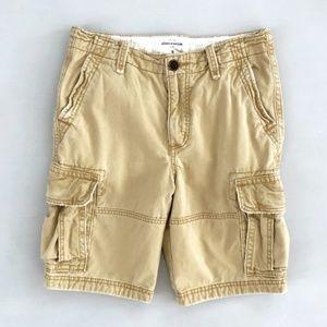 ABERCROMBIE FITCH Kids Boys Cargo Tan Shorts 16